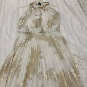 Gold and white dress from Macy's
